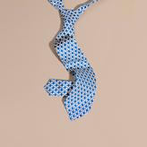 Burberry Modern Cut Geometric Print Silk Tie