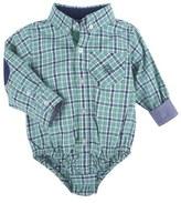 Andy & Evan 'Shirtzie' Plaid Bodysuit (Baby Boys)