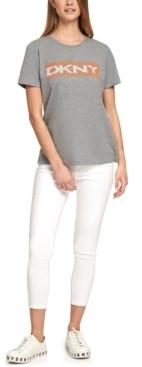 DKNY Beaded Logo T-Shirt
