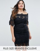 Paper Dolls Plus All Over Lace Bardot Dress