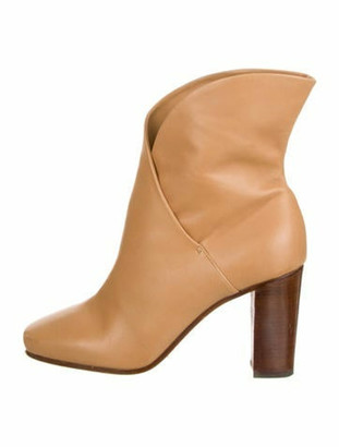 Celine Leather Wrap Booties