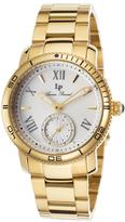 Lucien Piccard Yellow Gold & White Misty Rose Bracelet Watch - Women