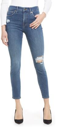 Good American Good Petite Fray Skinny Jeans