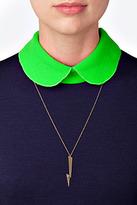 Jennifer Zeuner Jewelry Sandra-V Necklace in Yellow Vermeil