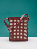 Diane von Furstenberg Perforated Origami Bucket Bag
