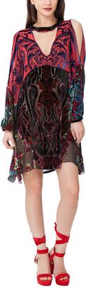 Hale Bob Josephine Silk-Blend Dress