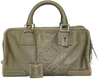 Loewe Green Leather Bolso Small Amazona Bag