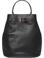 Dorothy Perkins Womens Black Buckle Backpack- Black