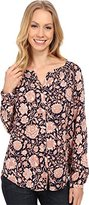 Lucky Brand Women's Jemma Floral Peasant Top