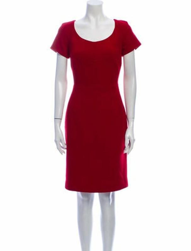 Dolce & Gabbana Scoop Neck Knee-Length Dress Red