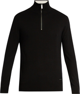 Burberry Half-zip cashmere sweater