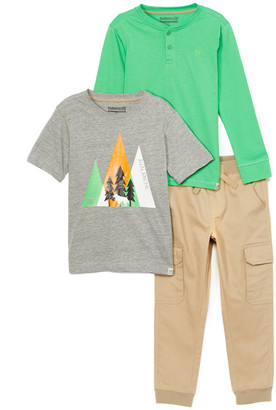 Avalanche Boys' Casual Pants grey/green/khaki - Gray & Green 'Avalanche' Trees Logo Tee Set - Toddler