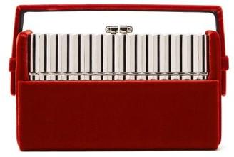 Bienen Davis Bienen-davis - Xenon Velvet Minaudiere Clutch - Womens - Red