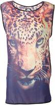 We Are Handsome jaguar print blouse
