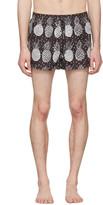 Dolce & Gabbana Black and White Pineapple Swim Shorts