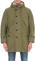 Saint Laurent Military cotton-blend parka coat