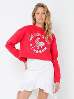 MinkPink New Mink Pink Cocky Af Logo Sweatshirt In Red Womens Sweaters & Jumpers