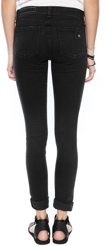 Singer22 Rag and Bone/JEAN Skinny Jean with Holes