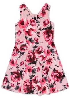 Speechless Big Girl Velvet Bodice Floral Dress