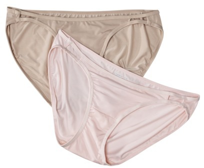 Hanes Women's Premium 2-Pack Micro Double String Bikini NB44AS - Assorted Colors/Patterns