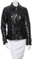 Dolce & Gabbana Coated Leather-Trimmed Jacket w/ Tags