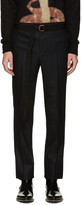 Givenchy Black Wool Belted Trousers