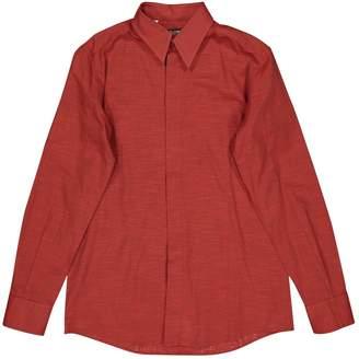 Dolce & Gabbana Red Cotton Shirts