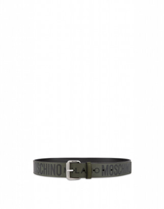 Moschino Calfskin Belt With Logo