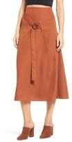 J.o.a. Women's Belted Midi Skirt