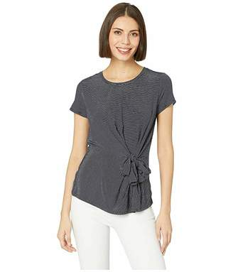 Vince Camuto Short Sleeve Serene Stripe Side Knot Tee