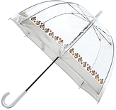 Fulton Birdcage Squirrel Print Umbrella, Clear/Brown
