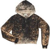 Cotton Citizen Women's Milan Crop Zip Hoodie - Black Dust