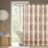 "Tangiers Medallion-Design Shower Curtain - Orange/72"" x 72"""
