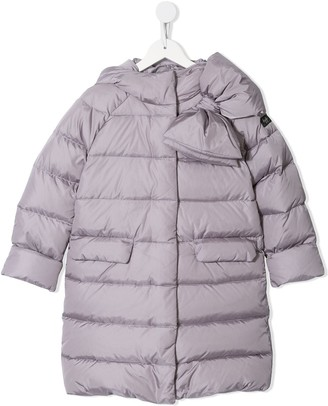 Il Gufo Padded Coat With Bow Detail