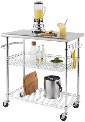 """Trinity EcoStorage? 34"""" Stainless Steel Kitchen Cart"""
