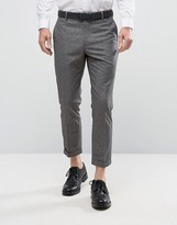 New Look New Look Cropped Smart Trousers In Grey