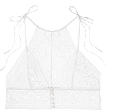 048edf53717 Ophelia Whistling Stretch-leavers Lace Soft-cup Triangle Bra - White