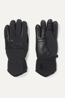 Bogner Fire & Ice BOGNER FIREICE - Isa Padded Leather And Shell Gloves - Black