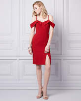Le Château Knit Crêpe Cold Shoulder Dress