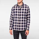 Paul Smith Men's Purple 'Shadow Plaid' Cotton Shirt