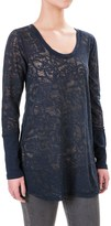 Allen Allen Lace Tunic Shirt - Scoop Neck, Long Sleeve (For Women)