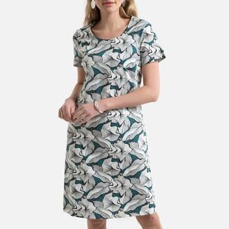 Anne Weyburn Printed Linen Mix Dress