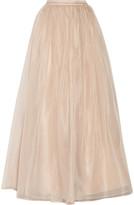 Alice + Olivia Abella silk-organza maxi skirt