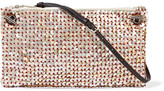 The Row Party Time 10 Mother-of-pearl Embellished Raffia Shoulder Bag - Beige