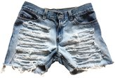 Excess Baggage Women's Levi's Distressed Boyfriend Ripped High Rise Cut-Off Shorts-M