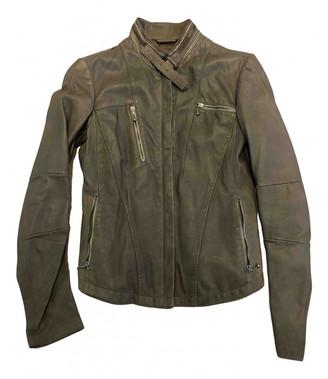Marithé + François Girbaud Marithe & Francois Khaki Leather Leather jackets