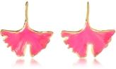 Aurelie Bidermann 18K Gold-plated Enameled Tangerine Earrings