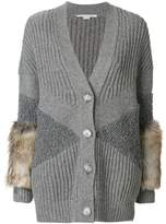 Stella McCartney fur trimmed cardigan
