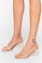 Nasty Gal Womens Clear the Air Low Satin Heels - beige - 3