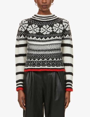 See by Chloe Graphic-pattern knitted jumper